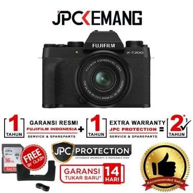harga JPC KEMANG Fujifilm X-T200 Fuji XT200 kit 15-45mm f3.5-5.6 Free SDHC 16GB + Leather Half Case* GARANSI RESMI Black Blibli.com