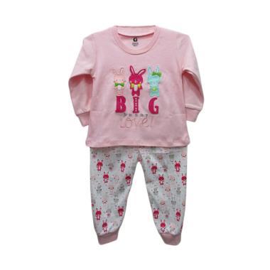 Gracie Motif Bunny 03 Baju Tidur Bayi Perempuan - Pink