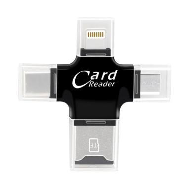 TOKUNIKU R006 4 in 1 Multi Function ... d OTG Card Reader - Black
