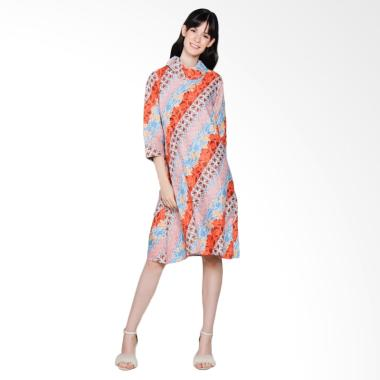 Jogja Batik Aulia Midi Dress Batik - Orange