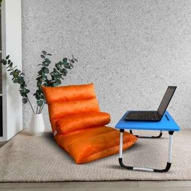 Zyo Tatami Kursi Lesehan Lipat Santai / Lazy Sofa uk 105 x 52 x 14 cm Orange