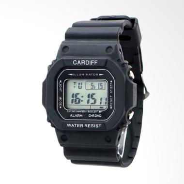CARDIFF Jam Tangan Pria - Black [LCD C 718]