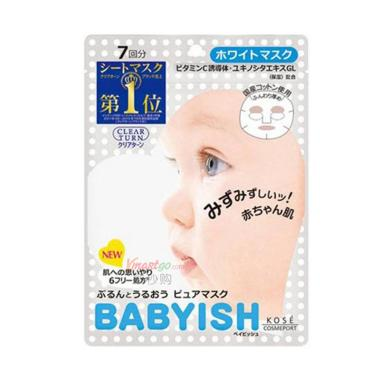 Kose Babyish Clear Turn Pure Mask A Masker Wajah [7 Sheets]