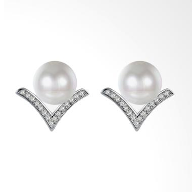 SOXY LKN18KRGPE1300 Fashion Plated white Gold  Pearl Models Earrings