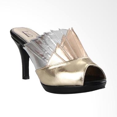 Farish Alexandra Sandal Heels Wanita - Gold