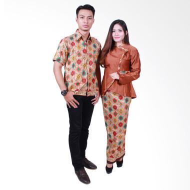 Batik Putri Ayu Solo SRD505 Batik Sarimbit Couple - Cokelat