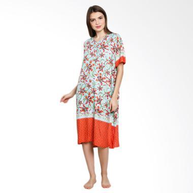 Batik Alhadi DP003-35D Daster Lenga ... Hamil & Menyusui - Orange