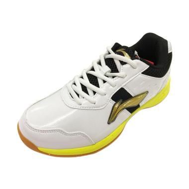 Li-Ning Diva Sepatu Badminton Pria - White Black [AYTM059/Original]
