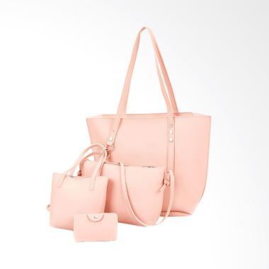 Lansdeal Women Pattern Set Tas Wanita - Pink [4 pcs]