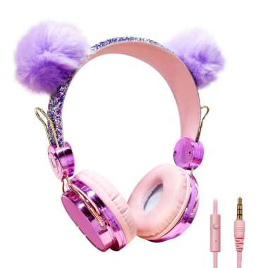 harga Headset Headphone Kabel Model Kucing Lucu Dengan Mic Untuk Gamer Musik Hp Iphone Samsung Lg Blibli.com