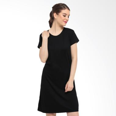 LEMONE KAE100097 Premium Mini Dress Atasan Wanita - Hitam