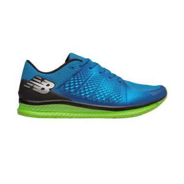 New Balance FuelCell Men Shoes Sepatu Lari Pria - Blue Green [MFLCLBL]