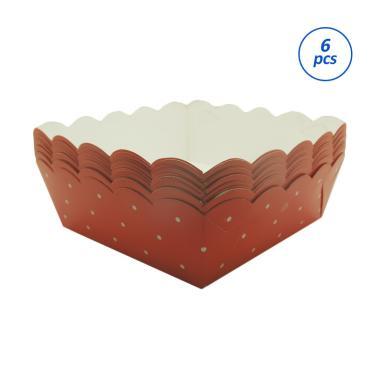 Titan Baking MC 2 Set Piring Kertas - Merah [6 Pack @10 Lembar]