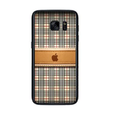 Acc Hp Burberry Apple L1306 Custom Casing for Samsung S7 Edge