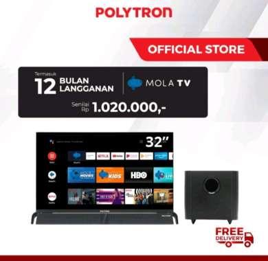 harga Polytron 32BAG9953 Led Tv 32 inch Soundbar Android 9.0 Mola Hd Tv PLD-32BAG9953 Blibli.com