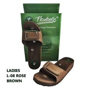 harga Sandal Kesehatan Reflexi ber Magnet type ROSE FLEXIBELLE- Wanita BROWN Blibli.com