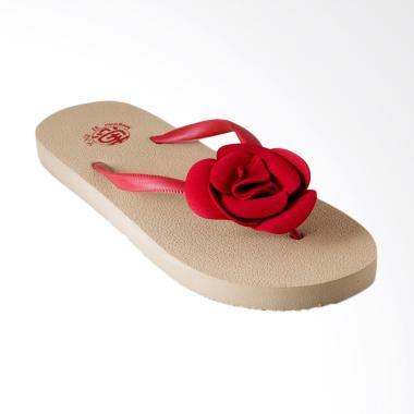Megumi Sandal Periwinkle Flip Flop Sandal Wanita - Merah
