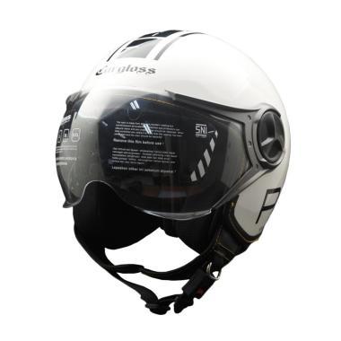 Cargloss YR Protect Fitur Kacamata Helm Half Face - Sp Whity White e1fa2478b6