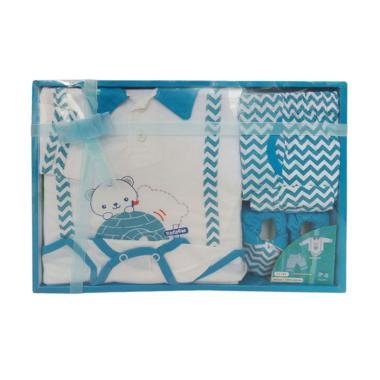 Kiddy 11161 Baby Boy Set Pakaian Bayi Laki Laki Gift Set - Biru
