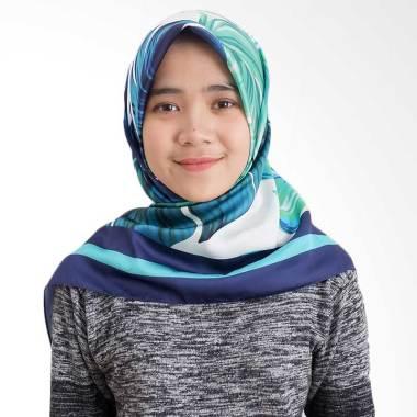 Tiffany Kenanga Printing Satin Hermes Angelina Forestfoliage Hijab Segiempat