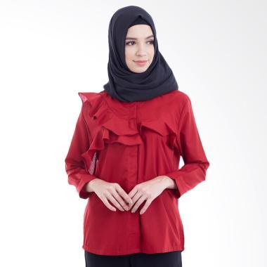 Hanalila Daily Hijab Hanalila Kimi Tops Blouse Muslim - Maroon