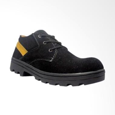 Cut Engineer Safety Boots Classic Sepatu Pria - Black