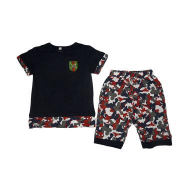 VERINA BABY Plus Pants Army Style Setelan Atasan Anak - Navy