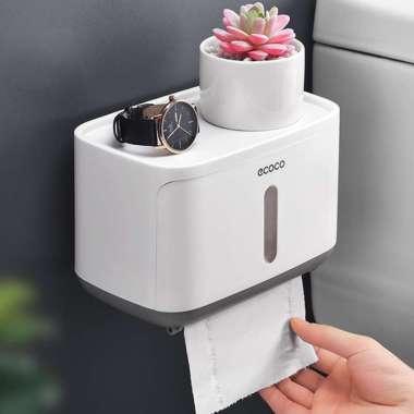 harga Premium ECOCO Kotak Tisu Tissue Storage Toilet Paper Box Dispenser - E1807 Murah Blibli.com