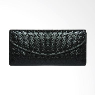 Shine Accessories WB1325 S.50 BLK Kulit Klip Motif Tikar Woman Wallet