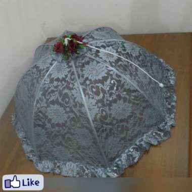 harga Tudung tutup cover saji payung lipat brukat abu grey Multicolor Blibli.com