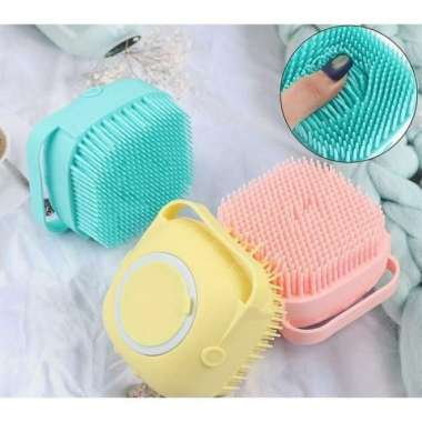 harga Promo Sikat Mandi Dispenser Silikon Brush Shower - Sikat Mandi Serbaguna - Kuning Murah Blibli.com