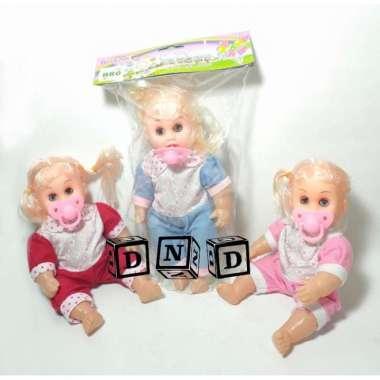 harga Mainan Anak Boneka Baby Bayi Perempuan Dot Empeng Menangis Berbicara Variasi Multicolor Blibli.com
