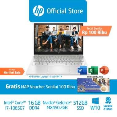 harga HP Pav 14-dv0516TX & 14-dv0514TX Silver&Gold Laptop Premium (494G7PA/498R8PA) /14