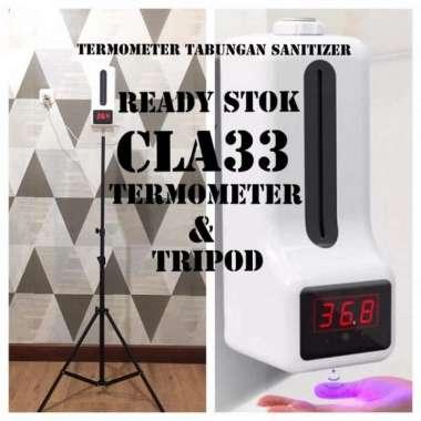 harga PAKET TERMOMETER WALL TABUNG SANITIZER & TRIPOD...ALAT UKUR SUHU TUBUH PROMO Blibli.com