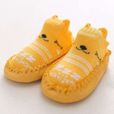 harga PREMIUM Kaos Kaki Anak Sepatu Bayi Motif Hewan Lucu Panjang 3D Import - Kuning, 11 cm Multicolor Semua Ukuran Blibli.com