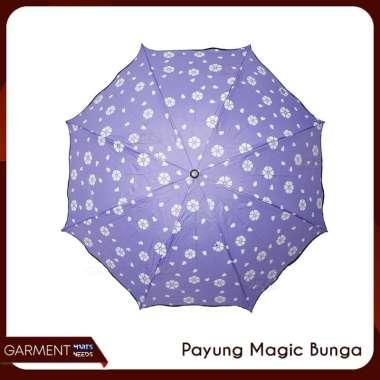 harga [COD] Payung Magic Lipat Bunga 3D Ajaib Berwarna Ketika Basah Hujan UNGU Blibli.com