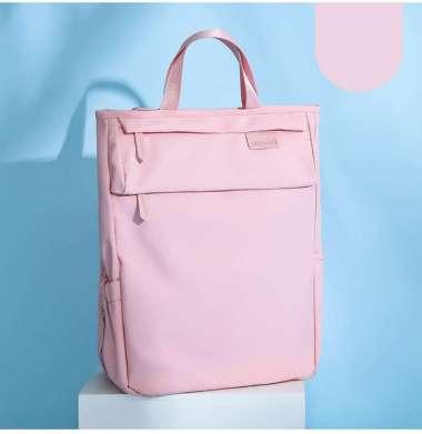 harga Tas Laptop Backpack Ransel Waterproof Large Compartment 14 - 15.6 inch Pink Blibli.com
