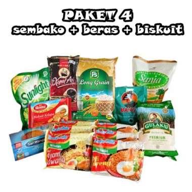 #4 Paket Sembako (beras gula kopi sabun biskuit) hampers parsel bahan pokok belanja bulanan lengkap