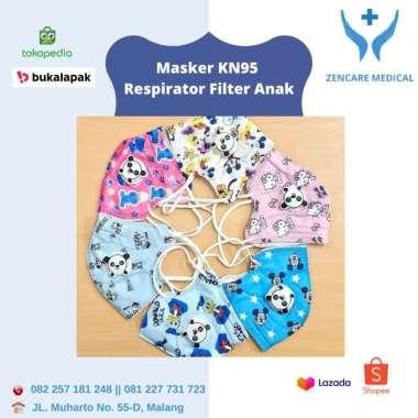 harga Masker KN95 Respirator Filter Anak Motif Sepack Isi 10 PCS Motif Cewek Blibli.com