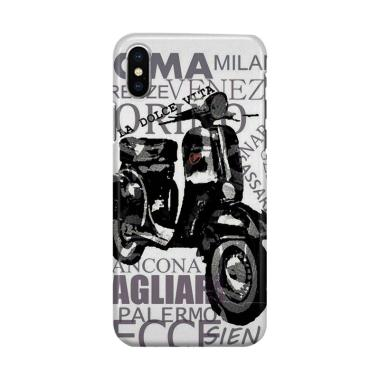 harga Indocustomcase Vespa-Dolce Vita Roma Cover Hardcase Casing for iPhone X Blibli.com