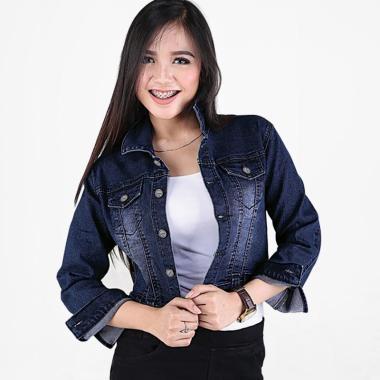 Jaket Catenzo BE 080 Denim Jeans Wanita Jacket Sweater Biru