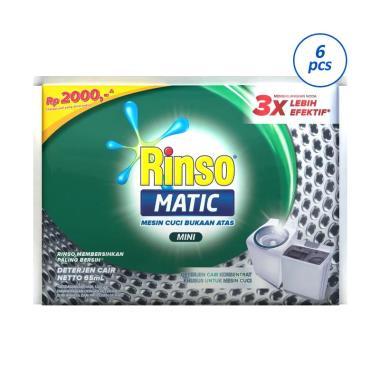RINSO Deterjen Cair Matic [65 mL x 6 Pcs]