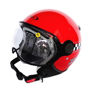 Zeus ZS-210 Helm Half Face - Retro Red/DD62
