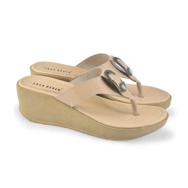 JAVA SEVEN RHT249 Sandal Wedges Wanita - Krem