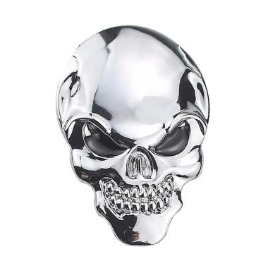 harga IIT Skull Bone Devil Auto Metal Emblem Badge Decal Personalized 3D Car Sticker Label Blibli.com