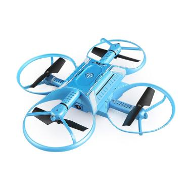 JJRC H60 Four Axis Aircraft HD Aerial Positioning Fixed Portable Module  Induction Remote Control Aircraft Drone - Blue