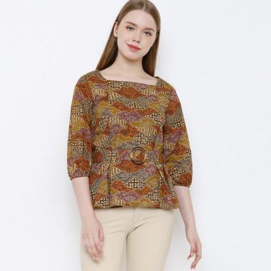 Asana Agiri Blouse Batik Wanita Brown