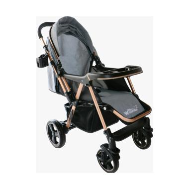 harga WONFUSS Baby Stroller Kereta Dorong Bayi - Grey Grey Blibli.com