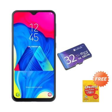 Samsung Galaxy M10 Smartphone - Ocean Blue  [16 GB/ 2 GB/ A] + MMC 32GB + Free Data 21GB