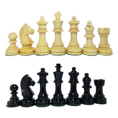 Planet Chess Kayu Mentaos Model DGT Premium Quality Bidak Catur + Free Menteri